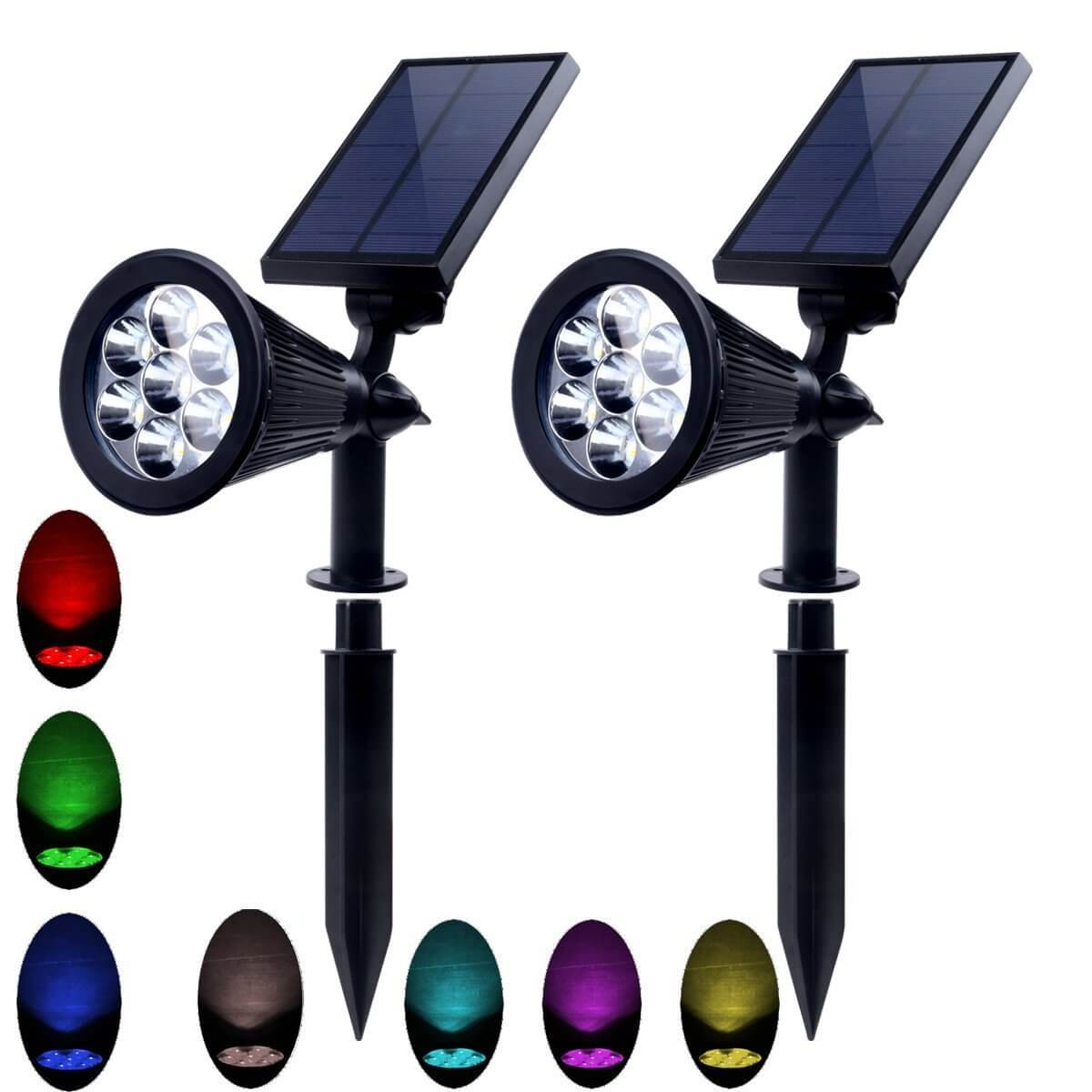 Discoloration 7 Rgb Color Led Lamp Beads Outdoor Garden